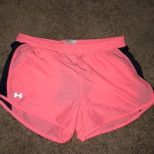 Under Armour pink and navy shorts